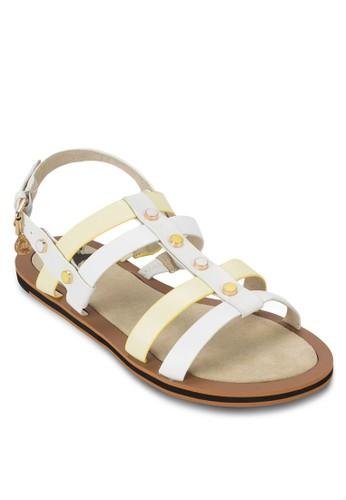 雙色鉚釘esprit tw繞踝涼鞋, 女鞋, 鞋