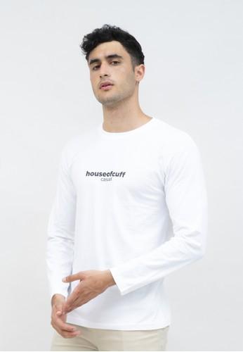 House of Cuff white Kaos cotton combed lengan panjang pria unisex houseofcuff Crunk 58C53AA52CF77BGS_1