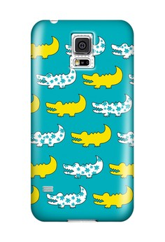 Gator Yellow and Blue Hard Case for Samsung Galaxy S5