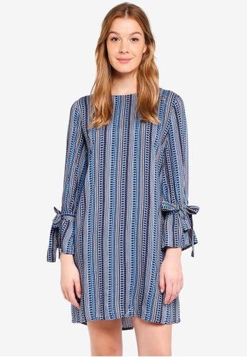 United Colors of Benetton blue Geometric Dress 7E80DAA8B5BD20GS_1
