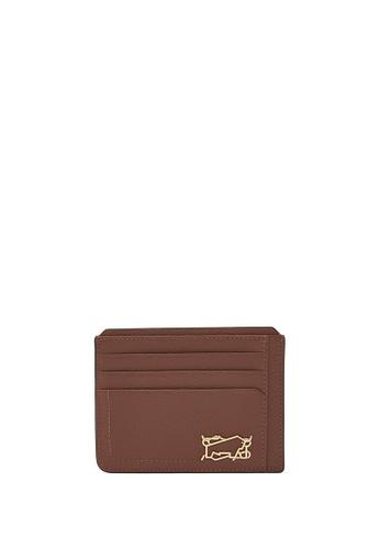 Braun Buffel brown Thonet Flat Card Holder 12AB9AC49B86EFGS_1