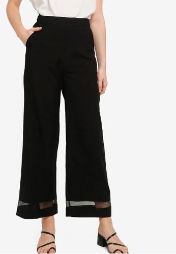 ZALORA WORK black Panelled Long Pants 9022FAAC8C5AE6GS_1