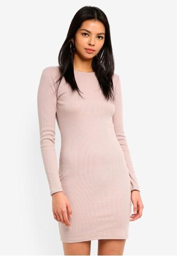 Supre grey Longsleeve Rib Bodycon Dress 37489AAE6201A9GS_1