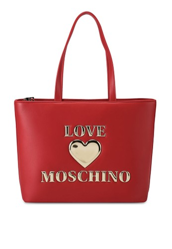 Love Moschino red Love Logo Tote Bag 819EAAC1D18066GS_1