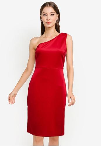 ZALORA OCCASION red Toga Dress With Side Slit C3D1FAAFF5F4E1GS_1