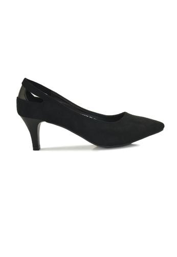 SHINE black Point Toe Heel Pumps SH554SH25DKWSG_1
