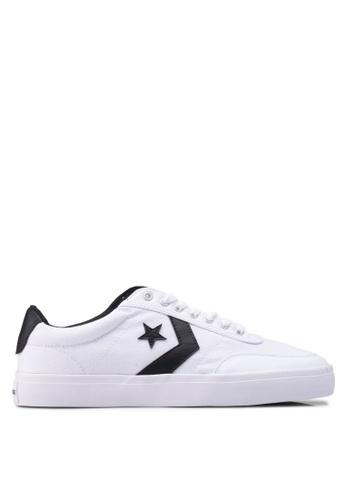 Converse white Converse Courtland Canvas Ox Sneakers D8611SH90C8325GS_1