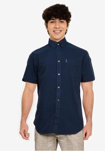 Ben Sherman navy Signature Gots Organic Oxford Shirt 4C5AAAAE84F1D0GS_1