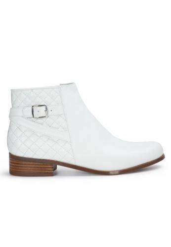 Shu Talk 白色 經典高貴小扣女短靴 SH544SH09PIWTW_1