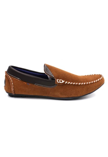 midzone brown Suede Leather Boat Shoes SC378SH64VTRMY_1