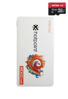 MOYOU 12000mAh Power Bank With FREE 16gb micro-SD card Class 10