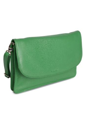 SADDLER green SADDLER Womens Leather Cross Body Purse Clutch - Detachable Strap -Ladies Sling Bag - Jelly Bean 5D609AC43A558FGS_1