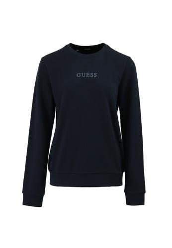 Guess blue Guess Ladies Long Sleeve Sweatshirt 69DF7AAE9C3CF3GS_1