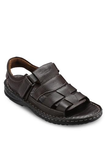 露趾繞踝皮革esprit macau涼鞋, 鞋, 鞋
