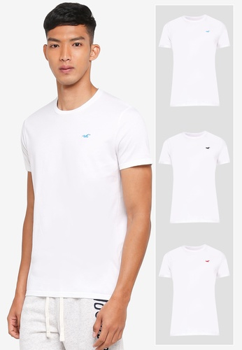 Hollister white Multi Pack Crew Neck T-Shirt 51124AA9FBD4FCGS_1