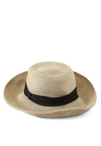 GLOBAL WORK black Woven Hat 325B2AC9834BBCGS_1