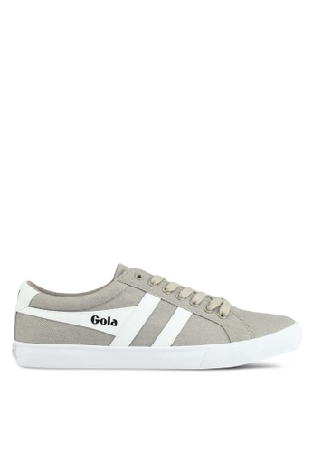 Gola grey and white Varsity Twill Sneakers 96872SHB24287BGS_1