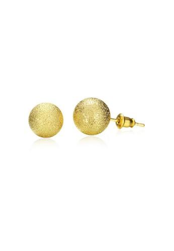 Tiaria yellow Tiaria Popular Round Earrings Gold Coated Aksesoris Perhiasan Anting AKE060-A--K16 63C85AC9BD12C4GS_1