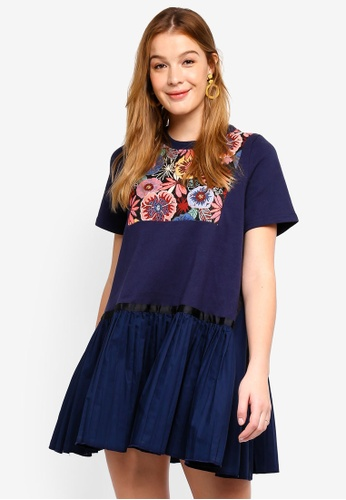 Haute Kelly blue Min Jee Dress C2B2BAA40EFF03GS_1