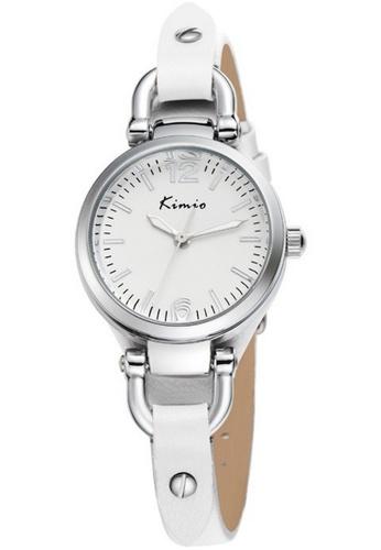 Eyki white and silver Eyki Kimio KW545S Women's Classic Leather Watch (Silver White) EY078AC60ROXMY_1