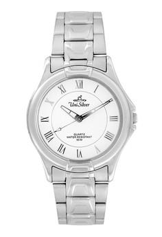 Men's Amaranth Analog Stainless Steel Pair Watch KW043-1101