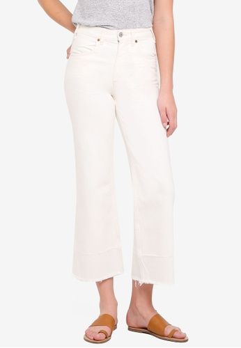 Abercrombie & Fitch white Ecru Annie Cropped Jeans C7716AAB03930EGS_1