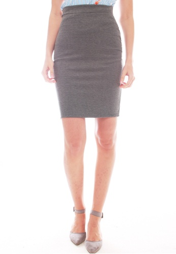 JOVET grey Classic Fitted Skirt 2612AAAB4B97B9GS_1