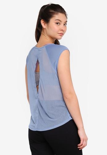 Cotton On Body blue Split Back T-Shirt 48A98AA2E9C523GS_1