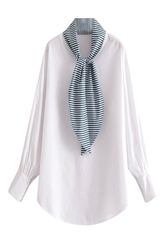 Sunnydaysweety white New Striped Scarf With White Top C0316060W 7F9DCAA80D68DDGS_1