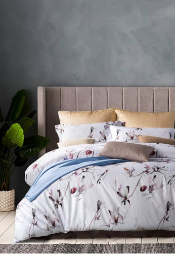 MOCOF white and blue and purple Tencel Printed VERA Duvet Cover Set 1200TC AAA19HL7933033GS_1