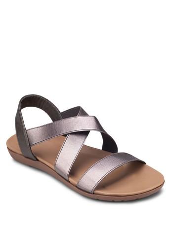 交叉帶平底涼鞋, 女鞋,esprit 特賣 涼鞋