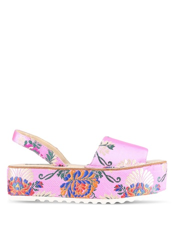 Nose pink Shanghai Surprise Wedge Sandals NO327SH0S6V1MY_1