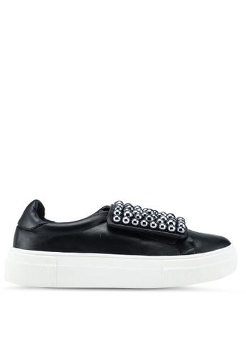 Nose 黑色 珍珠飾懶人運動鞋 10419SHBD049E6GS_1