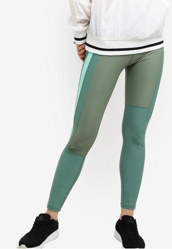 Cotton On Body green Colourblocked Tights 5D81DAA30E268FGS_1