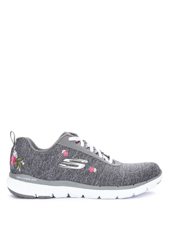 6bb7d6e2ead Shop Skechers Flex Appeal 3.0 - In Blossom Knitted Sneakers Online on  ZALORA Philippines