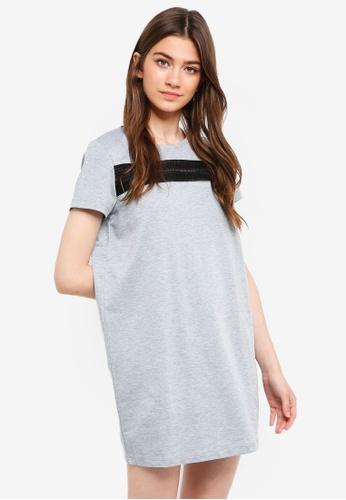 Something Borrowed grey Lace Tee Dress 6E86DAA089488BGS_1