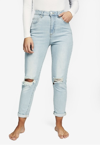 Cotton On blue Stretch Mom Jeans C1021AA65FEAD5GS_1