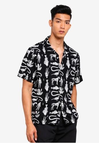 OBEY black Dante Woven Shirts E6B0BAABB74436GS_1