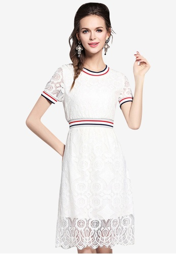 e5a05640bcec Shop Sunnydaysweety Simple Casual Style Lace Dress Online on ZALORA  Philippines