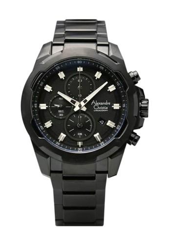 Alexandre Christie black Alexandre Christie AC6523 - Jam Tangan Pria - Stainless Steel - Full Hitam 004BBACA72A7E2GS_1
