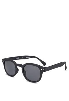 45212042db Izipizi black SUN LetmeSee  C Black Soft Grey Lenses +0.00 Sunglasses  F71D6GLE223914GS 1