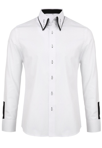 Buy Splice Cufflinks Rococo Series Plain White Shirt with Flowery ...