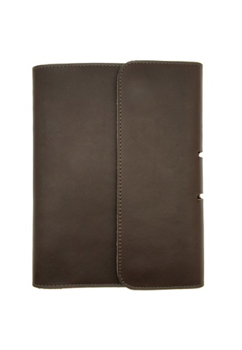 LUXORA brown The Ninja Co. Genuine Leather Notebook A5 Diary Planner Organizer Holder Case Book Stationery Corporate Office Gift 7454DAC95CE70DGS_1