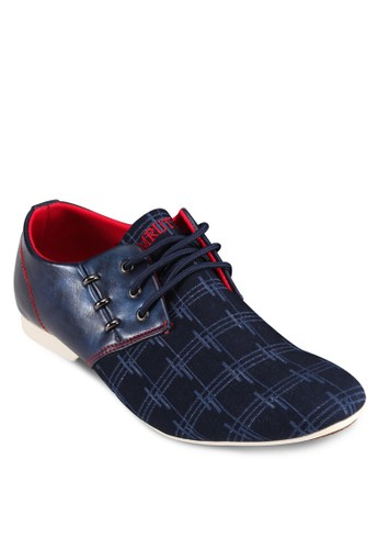 異材質撞色正式感休閒鞋、 鞋、 休閒鞋Emruti異材質撞色正式感休閒鞋最新折價