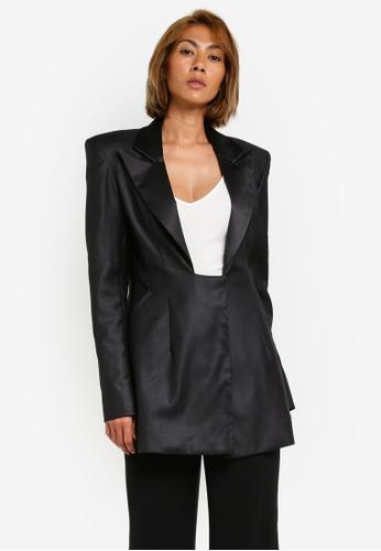 AfiqM black Black suit jacket AF546AA0S2MAMY_1