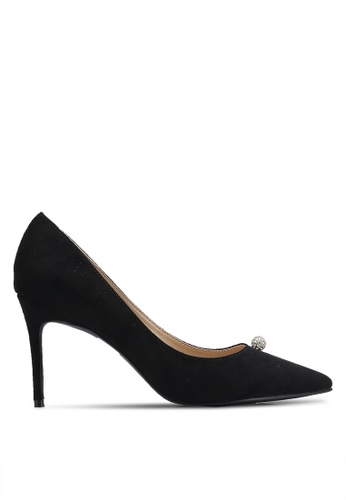 ZALORA 黑色 Crystal Ball Court Heels ADF4CZZ9B443C6GS_1