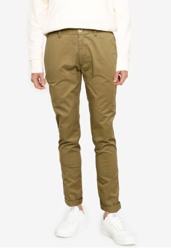 Ben Sherman green Signature Skinny Stretch Chino Trousers 2D46EAADE804F3GS_1