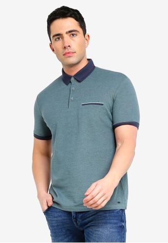 ESPRIT green Short Sleeve Polo Shirt 10CA1AA7C0D84AGS_1