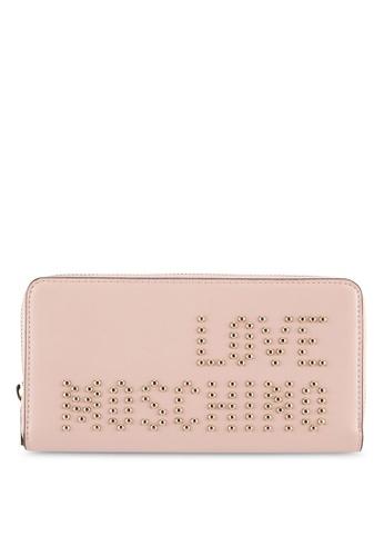 Love Moschino pink Portafogli Calf Wallet LO478AC0SEKEMY_1