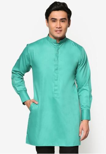 Murzaman green Kurta Amin MU501AA43DKAMY_1